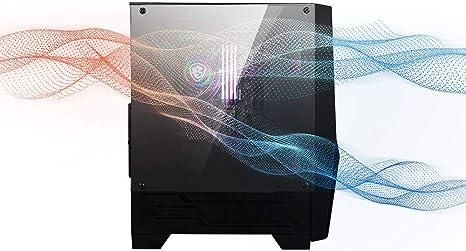 MSI MAG FORGE 100R Mid-Tower - Caja de PC Gaming (2 x 120 mm RGB + ...