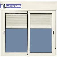 Ventana Aluminio Corredera Con Persiana PVC 1200 ancho