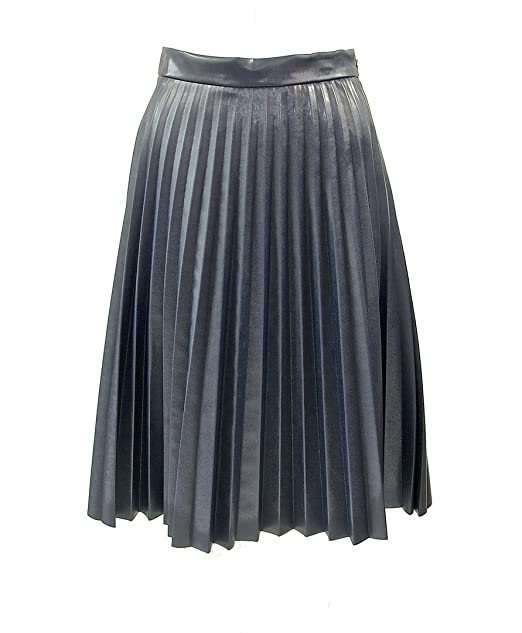 new style 69853 e138a Gonna plissettata paccs Rock in ecopelle, Anthracite/Grey ...