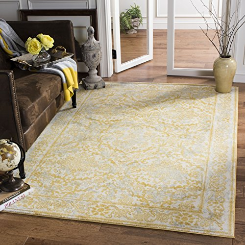 Ivory Gold Area Rugs (Safavieh Evoke Collection EVK242S Vintage Ivory and Gold Area Rug (4' x 6'))