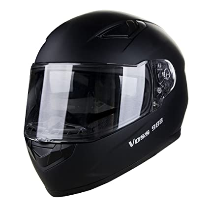 Voss 988 Moto-1 Street Full Face Helmet with Drop Down Internal Sun Lens -