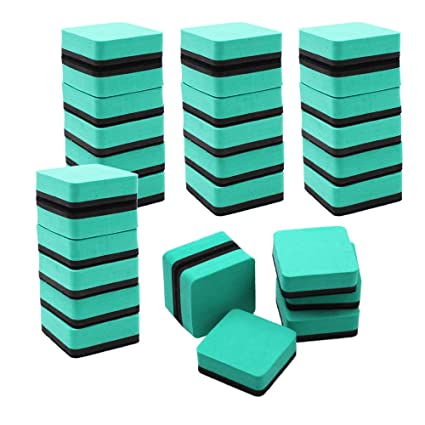 Paquete de 30 borradores magnéticos de pizarra blanca seca ...