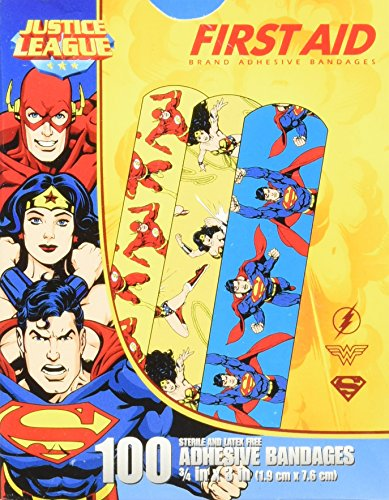 Character Bandages - Justice League 100CT Bandages 3/4x3