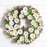 Hot Sale!!Woaills Window Door Decorations Ornament Garland Sunflower Wreath 30cm (Green)