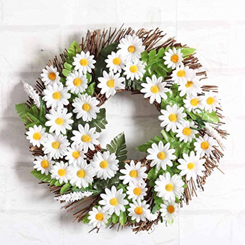 Hot Sale!!Woaills Window Door Decorations Ornament Garland Sunflower Wreath 30cm (Green) (Garlands And Wreaths)