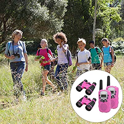 Anpro walkie talkies and Telescope Sets for Kids, 22 Channel 2 Way Radio 3 Mile Long Range Handheld Kids Walkie Talkies, Best Gifts ,Top Toys for Boy ,Girls for Outdoor Adventure Game(Pink): Toys & Games