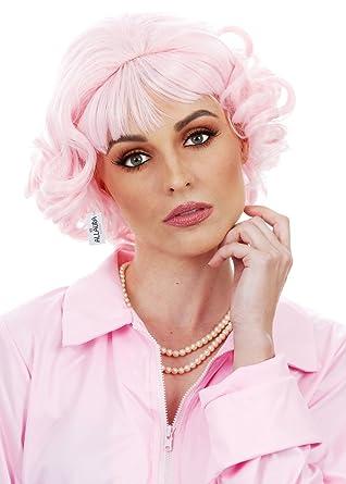 ALLAURA 2 Pelucas Rosadas para Mujer, Peluca de Pelo Rizado ...