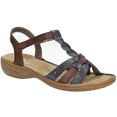 Damen Rieker Sandalen mit Klettverschlüßen Gr. 42