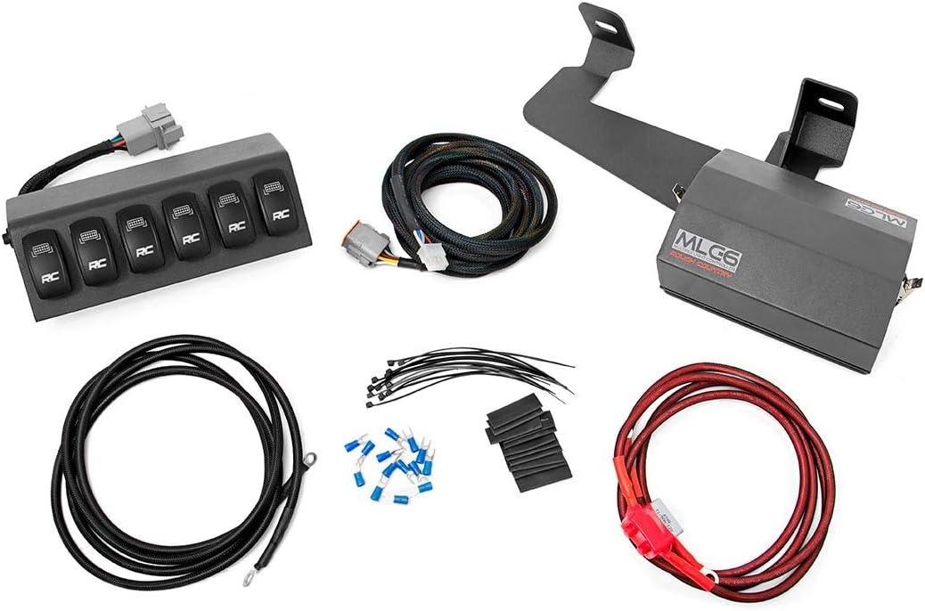 Rough Country 70956 6 Button Multiple Light Controller (fits) 1997-2006 Jeep Wrangler TJ/LJ | 12 Position Terminal, Black