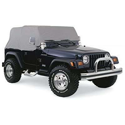 RAMPAGE PRODUCTS 1261 Grey 4 Layer Breathable Cab Cover (fits Over Installed top) for 1976-2006 Jeep Wrangler: Automotive