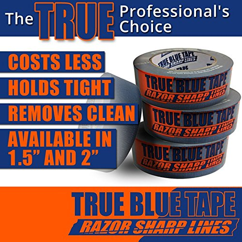 True Blue Premium Blue Professional Painter's Masking Tape – Indoor and Outdoor Use – Commercial Grade - Available in 2 Widths – Works on a Variety of Surfaces (2 Inch, 4-Pack) by True Blue (Image #8)