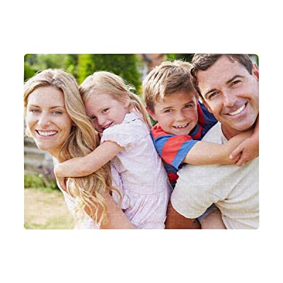 Photo Puzzles Custom Portrait of Happy Family in Garden Rectangle Jigsaw Puzzle A3 Size 252 Piecess Entertainment DIY Toys for Graduation or Birthday Gift Creative Gift Home Decor: Toys & Games