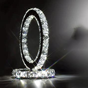 Amazon Com Momo Led Dekorative Lampe Kristall Tischlampe