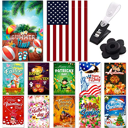 (Seasonal Garden Flag Set of 12 Pack - 12