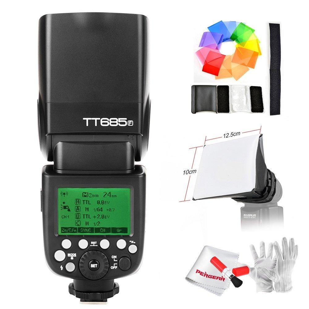 【Godox正規代理店&技適マーク付き& 一年保証】Godox TT685F 2.4G TTL GN60 1/8000S HSS カメラフラッシュスピードライト Fujiカメラ対応   B075FPRW8F