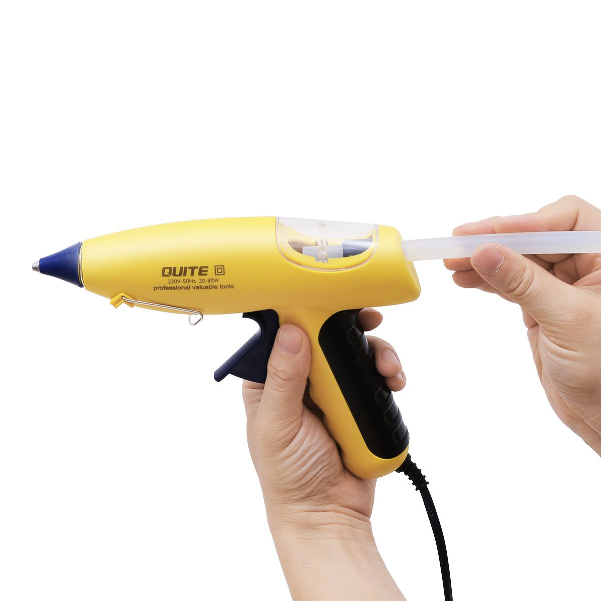 Robao 20-80W Mini Hot Melt Glue Gun with 12pcs Glue Sticks High Temperature Melting Glue Gun Kit Flexible Trigger for DIY Small Craft Projects&Sealing and Quick Repairs