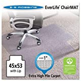 E.S. Robbins 124173 45x53 Lip Chair Mat, Performance Series AnchorBar for Carpet over 1''