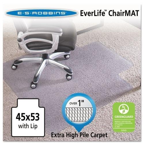 E.S. Robbins 124173 45x53 Lip Chair Mat, Performance Series AnchorBar for Carpet over 1'' by ES Robbins