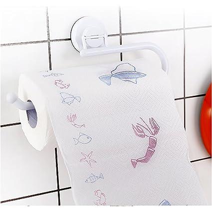 Portavasos plástico de pared montaje rodillo de succión,Suspensión de la toalla baño cocina almacenaje