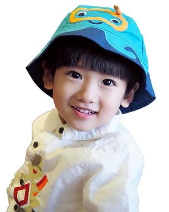 ed6f9766c606 Bigood Chapeau de Soleil Enfant Bébé Coton Bonnet Souple Pêche Camping Eté   Amazon.fr  Vêtements et accessoires