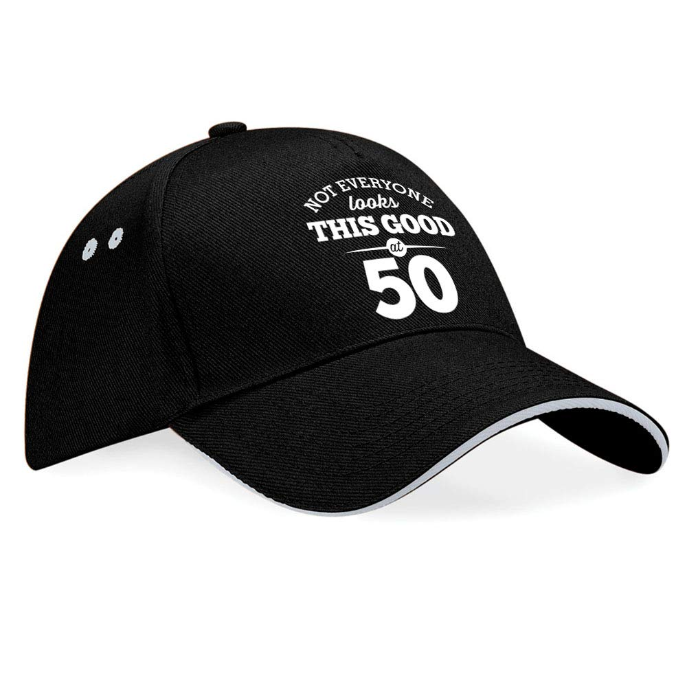 50th Birthday Gift Idea Baseball Cap Hat Present keepsake for Women Men