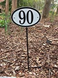 Comfort House Lawn Stake For Address Sign (Black Stake) signs are sold separately