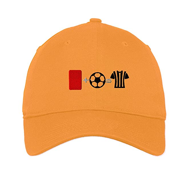 79a726c6513 Amazon.com  Speedy Pros Cotton Low Profile Hat Red Card Ball Referee ...