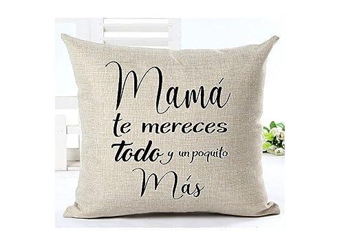 Cojín Mamá 31 x 31 cm. Regalo/Bodas/San Valentín/Cumpleaños ...