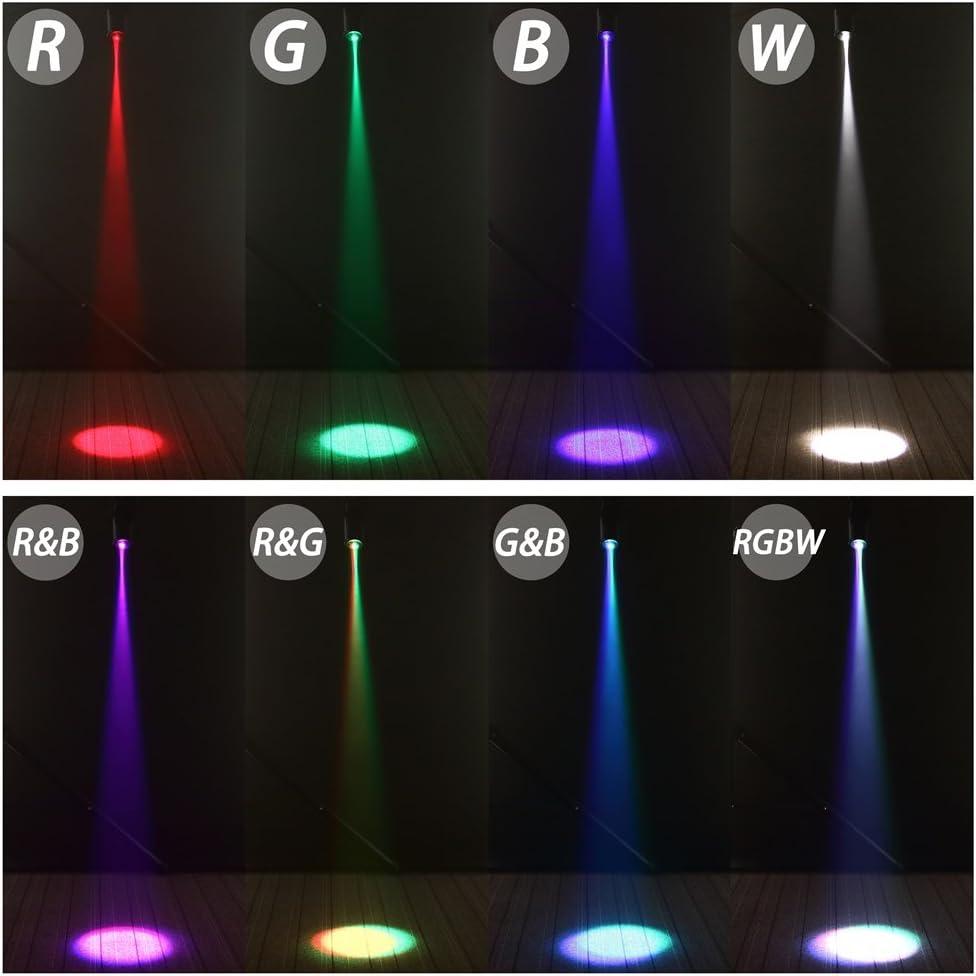 Foco LED con activaci/ón por sonido DMX512 UKing 30 W Typ2-30w Foco para escenarios LT-LED Pinspot
