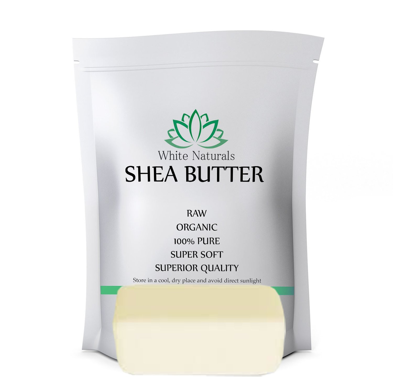 Organic Shea Butter 1 lb Pure, Raw, Unrefined, Grade A, Perfect Skin Moisturizer, DIY Lip Balms, Stretch Marks, Eczema, Acne, Recover Sun Damage, Kids Cream by White Naturals