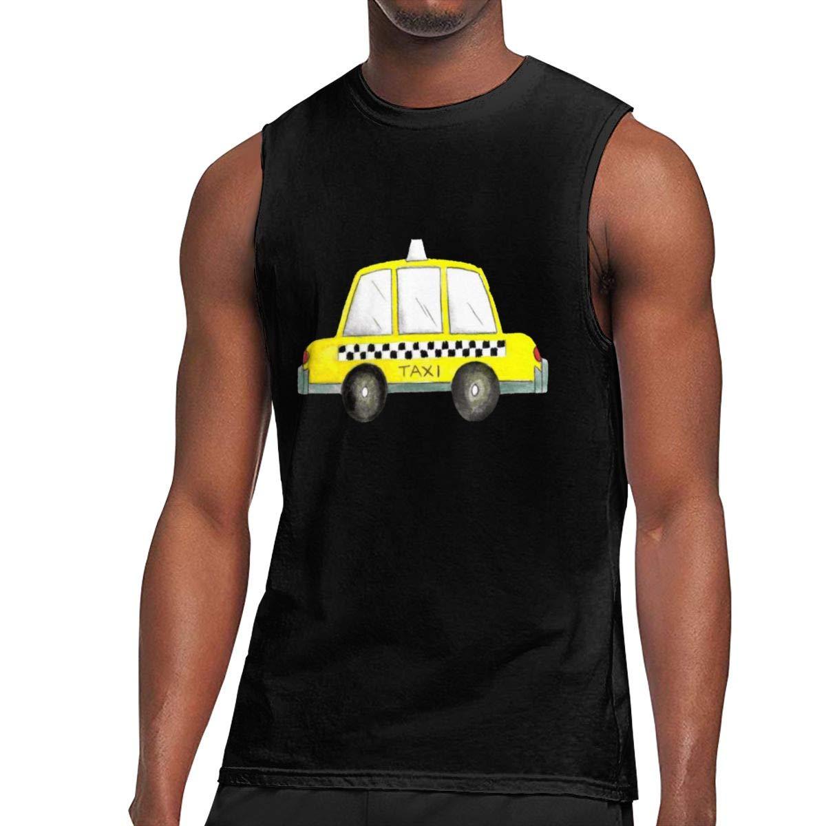 Seuriamin Taxi Nyc Yellow New York City Checkered Cab Car S Summer Tennis Sleeveless Muscl