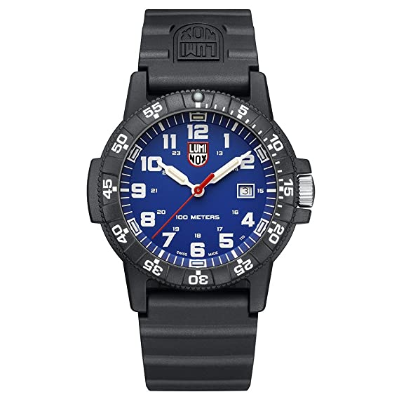Luminox Leatherback Sea Turtle Giant 0320 series Watch with carbon compound Case Blue|White Dial