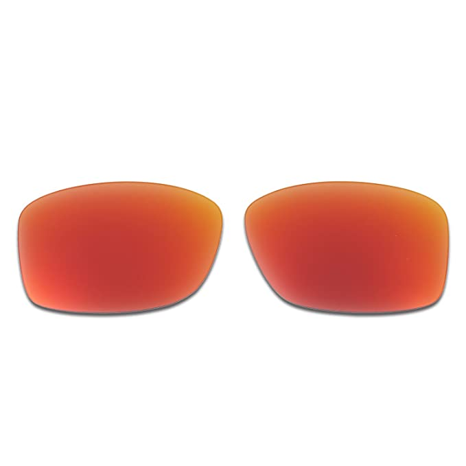 18989cfe2f Amazon.com  Hkuco Mens Replacement Lenses For Oakley Jupiter Squared Red  Blue 24K Gold Emerald Green Sunglasses  Clothing