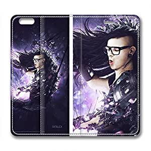 iCustomonline Skrillex Fashionable PU Leather Case for iPhone 6 Plus( 5.5 inch)