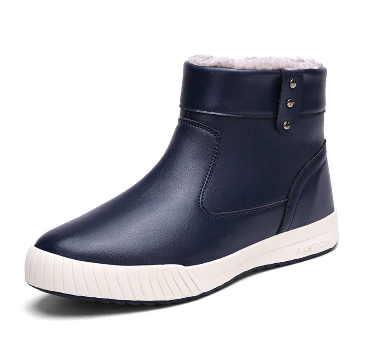 DANDANJIE Herren Schneeschuhe Winter warme Schuhe mit Reißverschluss High-Top Rutschfeste Turnschuhe Casual Outdoor-Schuhe für Sport zu Fuß