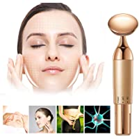 Boverty™ Face Vibratory Massager for Instant Face Lift,Anti-Wrinkles,Anti Aging,Skin Tightening,Eliminate Dark Circles for Women Face Slimmer Tool (Rose Gold)