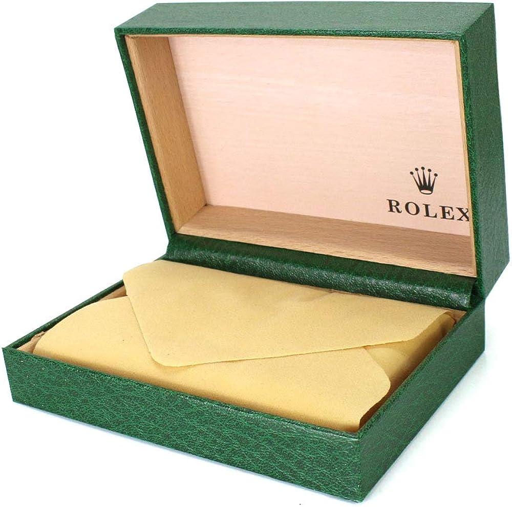 ROUHO Caja De Visualización De Reloj con Caja De Reloj Voltea Dote Verde para Rolex