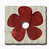 YuQi Two Colours Rectangle Embroidery Shimmering Sequins Christmas Tree Skirt DIY Red and Silver Switch