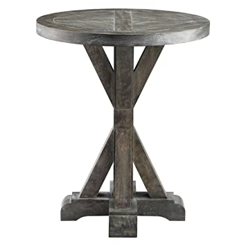 Amazoncom Stein World Bridgeport Round End Table Kitchen Dining