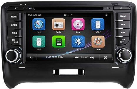 ZLTOOPAI Per AUDI TT MK2 Android 9.0 Autoradio GPS per auto Navigazione GPS stereo 7 pollici Touch Screen Car Media Player Doppio supporto per unit/à di testa Din Collegamento dello schermo Mirror WiFi