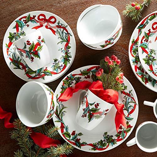 Christmas Dinnerware - Brylanehome 16-Pc. Christmas Dinnerware Set - White
