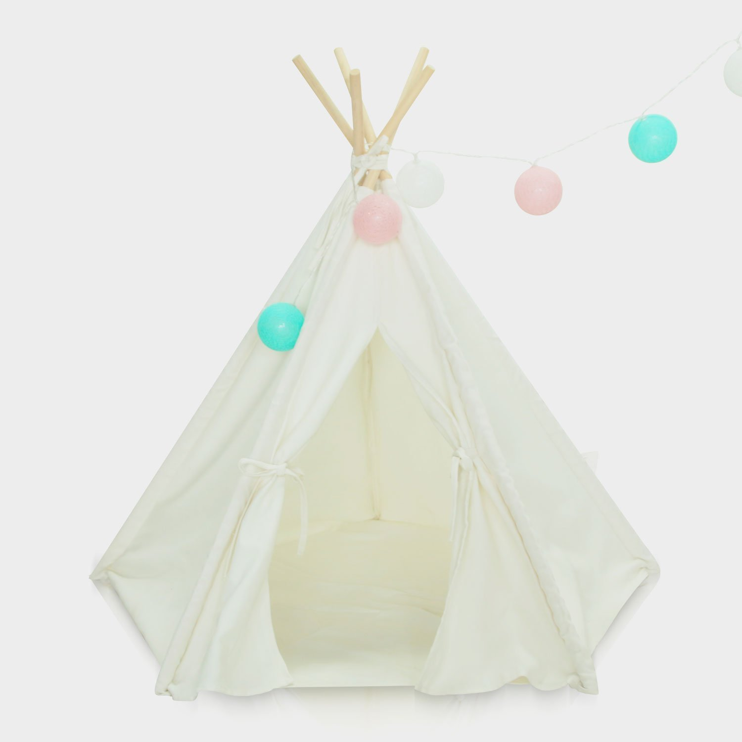 Pet Teepee - Small Dog Puppy Cat Rabbit Pet House Tent with 5 Walls Design Pet Animals Habitats