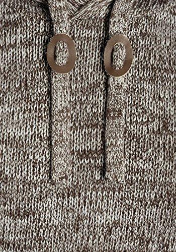 Con Capucha Bean Grueso solid Punto Suéter 100 Hombre 5973 Coffee Para Sudadera Pluto Jersey Algodón De 4648rf0q