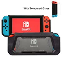 ZTTOC Nintendo Switch Gaming Protective Case / Schutzhülle / Hülle,Dockable Case / Abnehmbare Joy-Con mit TPU Frosted + PC Transparent (K03)