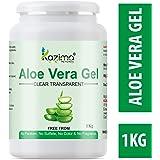 KAZIMA Aloe Vera Gel Raw - 100% Pure Natural Gel - Ideal for Skin Treatment, Face, Acne Scars, Hair Treatment, Moisturizer & Dark Circles