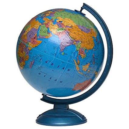 864f04955103 Awals Educational Rotating Desk and Table Top Political World Globe (Blue