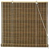 Cheap Oriental Furniture Burnt Bamboo Roll Up Blinds – Olive Green – (24 in. x 72 in.)