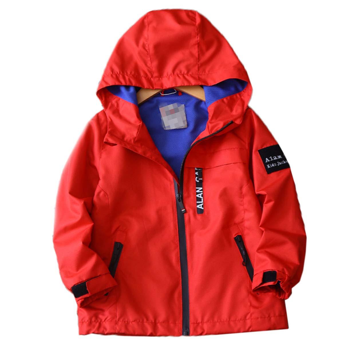 Zip Up Boys Hooded Windproof Hoodie Jackets Long Sleeve Sweatshirt Coat Jacket 2-14 Years