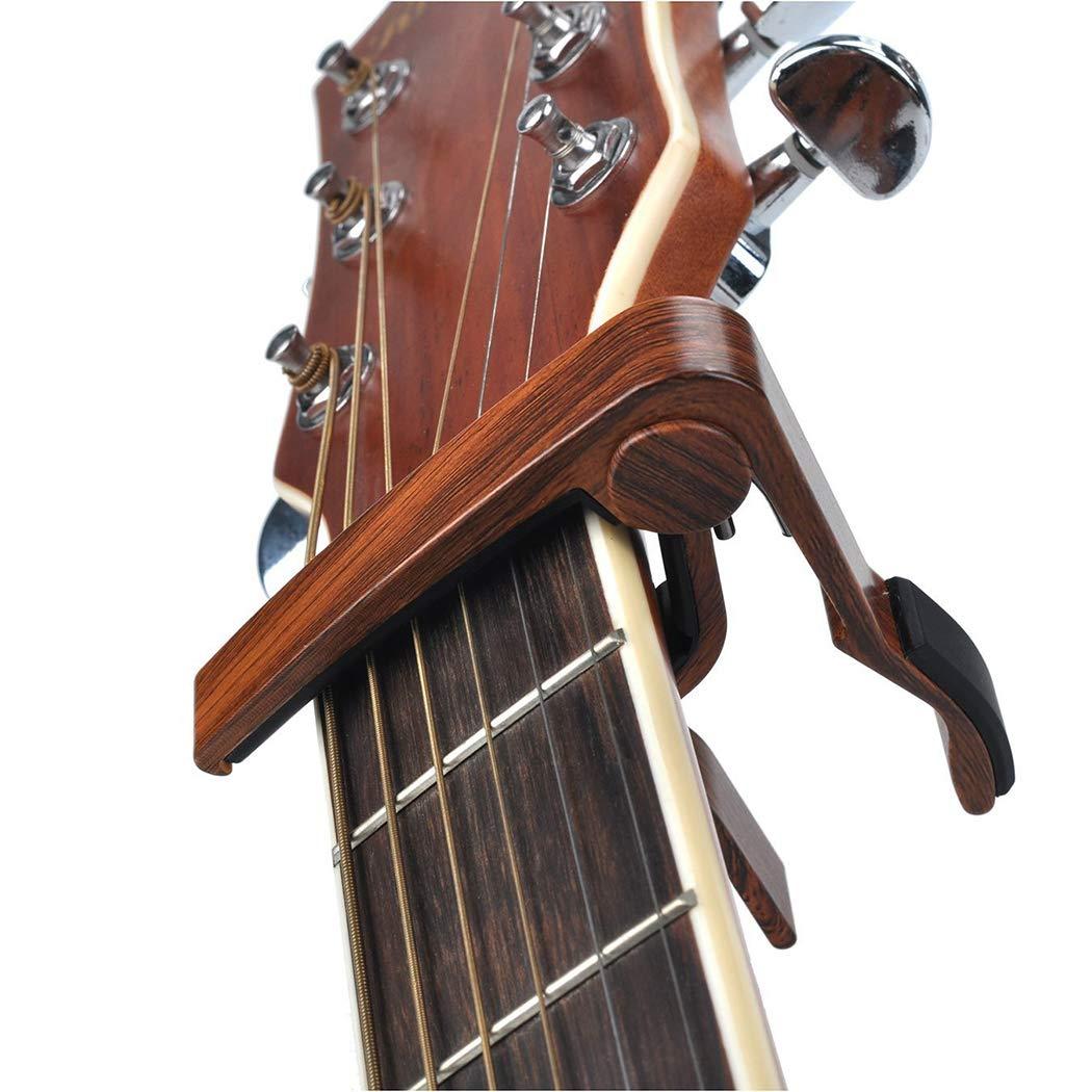 Fansport Guitar Capo ErgonóMico De Madera Ukulele Capo Accesorio De Guitarra: Amazon.es: Deportes y aire libre