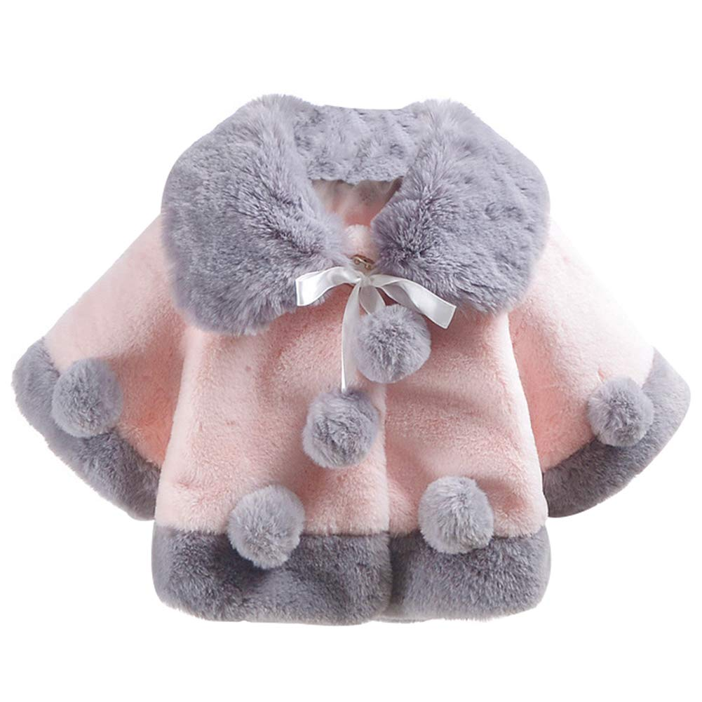 LIUONE Toddler Baby Girls Cloak Cappa Thick Princess Cotton Cape Infant Autumn Winter Warm Clothes